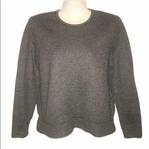 rag & bone gray 100% wool sweater